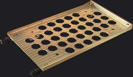 6U SIXHEX-16HP Mounting Tray